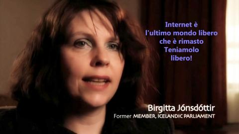 Teniamo internet libero - Birgitta Jónsdóttir